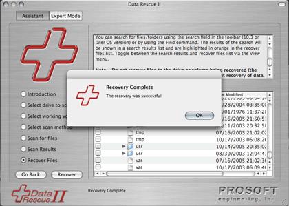 Data Rescue full screenshot